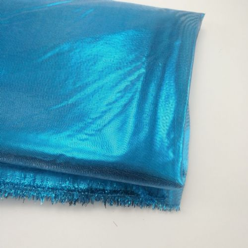 Metallic Turquoise Soft Fabric 54""